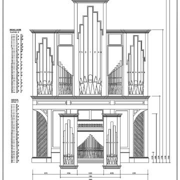 Planimetría para la construcción de un órgano